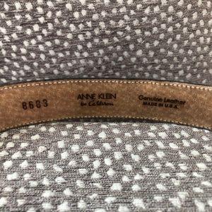 Anne Klein Accessories - Vintage Anne Klein Black Leather Belt Gold Buckle